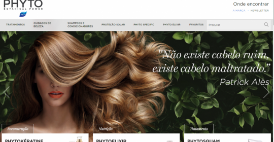 Apresentamos o site da Phyto Brasil